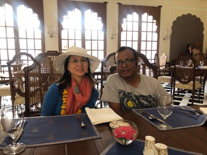 Luncheon at Oberoi Hotel in Agra