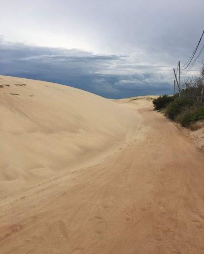Road to hotel in Punta del Diablo